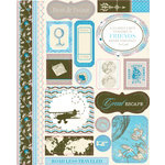 Authentique Paper - Journey Collection - Die Cut Cardstock Pieces - Icons
