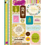 Authentique Paper - Splendid Collection - Die Cut Cardstock Pieces - Icons