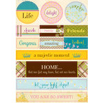 Authentique Paper - Splendid Collection - Die Cut Cardstock Pieces - Noteables
