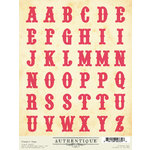 Authentique Paper - Uncommon Collection - Cardstock Stickers - Classic Type Alphabet
