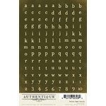 Authentique Paper - Uncommon Collection - Cardstock Stickers - Petite Type Circle Alphabet