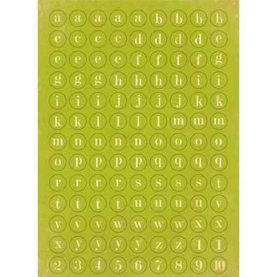 Authentique Paper - Splendid Collection - Cardstock Stickers - Petite Type Circle Alphabet