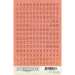 Authentique Paper - Uncommon Collection - Cardstock Stickers - Petite Type Square Alphabet