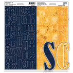 Bisous - Chipboard Letters - Oz Collection, CLEARANCE