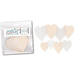 Basically Bare - Basically Embellies - Bare Basics - Canvas and Felt Pieces - Hearts - Set 2