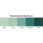 Bazzill Basics - Monochromatic Packs 8.5 x 11 - Blue-Green