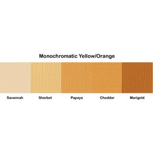 Bazzill Basics - Monochromatic Packs 12 x 12 - Yellow-Orange