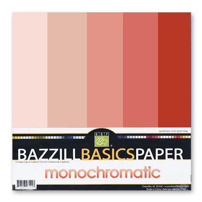 Bazzill Basics - Monochromatic Packs 12 x 12 - Red-Orange, CLEARANCE