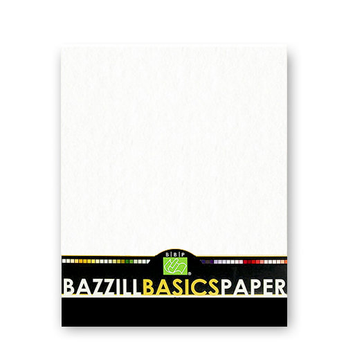 Bazzill - Bulk Cardstock Pack - Orange Peel Texture - 25 Sheets - 8.5x11 White