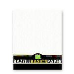 Bazzill Basics - Bulk Cardstock Pack - Orange Peel Texture - 25 Sheets - 8.5x11 White