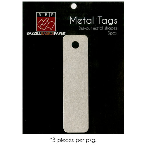 Bazzill Basics - Metal Tags - Designer Tag