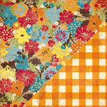 Bazzill Basics - Margie Romney Aslett - Autumn Harvest Collection - 12 x 12 Double Sided Paper - Fall Floral