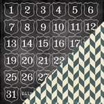 Bazzill Basics - Janet Hopkins - Arsenic and Lace Collection - 12 x 12 Double Sided Paper - Countdown