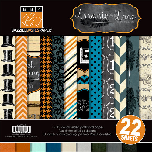Bazzill Basics - Janet Hopkins - Arsenic and Lace Collection - 12 x 12 Assortment Pack