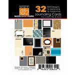 Bazzill Basics - Janet Hopkins - Arsenic and Lace Collection - 3 x 4 Journaling Cards