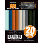 Bazzill Basics - Janet Hopkins - Arsenic and Lace Collection - 3 x 4 Coordinating Cardstock Multipack