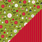 Bazzill Basics - Sweetwater - Countdown to Christmas Collection - 12 x 12 Double Sided Paper - Tis The Season