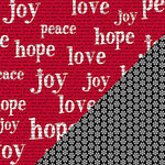 Bazzill Basics - Sweetwater - Countdown to Christmas Collection - 12 x 12 Double Sided Paper - Peace Love Joy