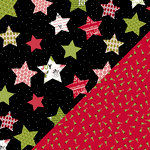 Bazzill Basics - Sweetwater - Countdown to Christmas Collection - 12 x 12 Double Sided Paper - Brightly Shining