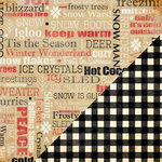 Bazzill Basics - Margie Romney Aslett - Nordic Pines Collection - 12 x 12 Double Sided Paper - Winter Words