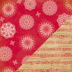 Bazzill Basics - Margie Romney Aslett - Nordic Pines Collection - 12 x 12 Double Sided Paper - Nordic Doily