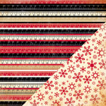 Bazzill Basics - Margie Romney Aslett - Nordic Pines Collection - 12 x 12 Double Sided Paper - Rulers