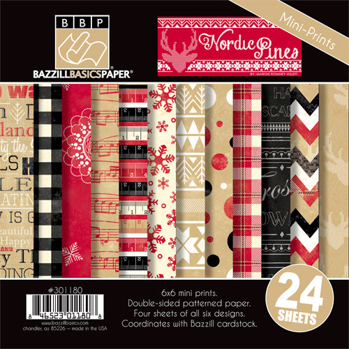 Bazzill Basics - Margie Romney Aslett - Nordic Pins Collection - 6 x 6 Assortment Pack