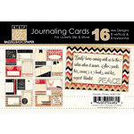 Bazzill Basics - Margie Romney Aslett - Nordic Pins Collection - Lickety Slip - 4 x 6 Journaling Cards