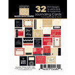 Bazzill Basics - Margie Romney Aslett - Nordic Pins Collection - 3 x 4 Journaling Cards