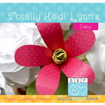 Bazzill - Paper Crafting Pattern - Daisy