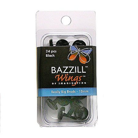 Bazzill Basics - Really Big Brads - 10 mm - Black, CLEARANCE