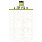 Bazzill Basics - Paper Shapes - Flowers - 6 Pieces - Primula - White