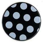 Bazzill Basics - Polka Dot Brads - 25 mm - Black, CLEARANCE