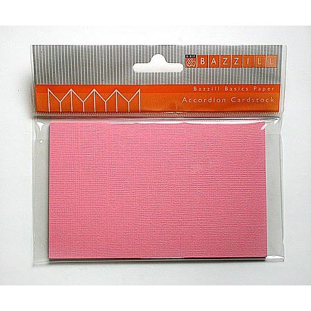 Bazzill Basics Accordion Cardstock - Library - Chablis