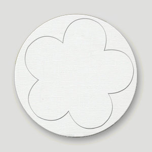 Bazzill Basics - Really Big Flower Chips - 5 Petal Flower, CLEARANCE