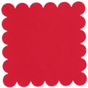 Bazzill Basics - 12x12 Scalloped Cardstock - Strawberry, CLEARANCE