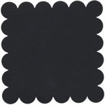 Bazzill Basics - 12x12 Scalloped Cardstock - Coal