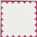 Bazzill Basics - 12x12 Scalloped Cardstock - Snow