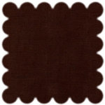Bazzill Basics - 12x12 Scalloped Cardstock - Brown, CLEARANCE