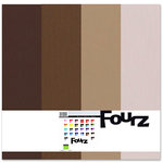 Bazzill Basics - Fourz Multi-Packs - 12x12 - Dessert