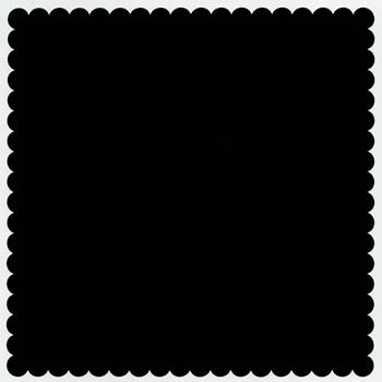 Bazzill Basics - 12x12 Mini Scallop Cardstock - Coal