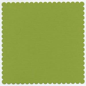 Bazzill Basics - 12x12 Mini Scallop Cardstock - Parakeet, CLEARANCE