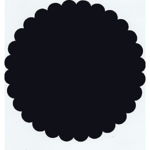 Bazzill Basics - 12x12 Medium Scallop Circle Cardstock - Beetle Black, CLEARANCE