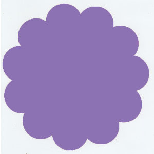 Bazzill Basics - 12x12 Flower Cardstock - Wild Pansy - Purple, CLEARANCE
