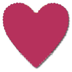 Bazzill Basics - 12x12 Heart Cardstock - Tink Pink, CLEARANCE