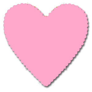 Bazzill Basics - 12x12 Heart Cardstock - Precious - Pink