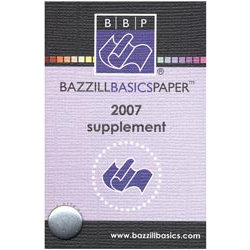 Bazzill Basics Swatch Book - Supplement 2007