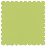 Bazzill Basics - 12x12 Square Scalloped Cardstock - Green Tea, CLEARANCE