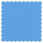Bazzill Basics - 12x12 Square Scalloped Cardstock - Ocean