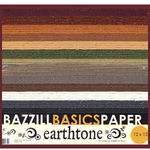 Bazzill Basics - 12x12 Cardstock Multipack - Special Value - Earthtones